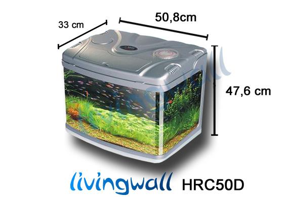 Acuario de cristal para peces 51cm y 58 litros livingwall for Acuario 90 litros