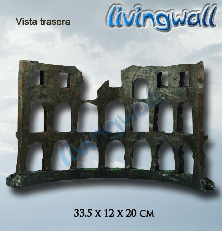 Decoracion Griega Para Acuarios ~ Decoracion de acuarios Coliseo  Livingwall Acuarios de pared