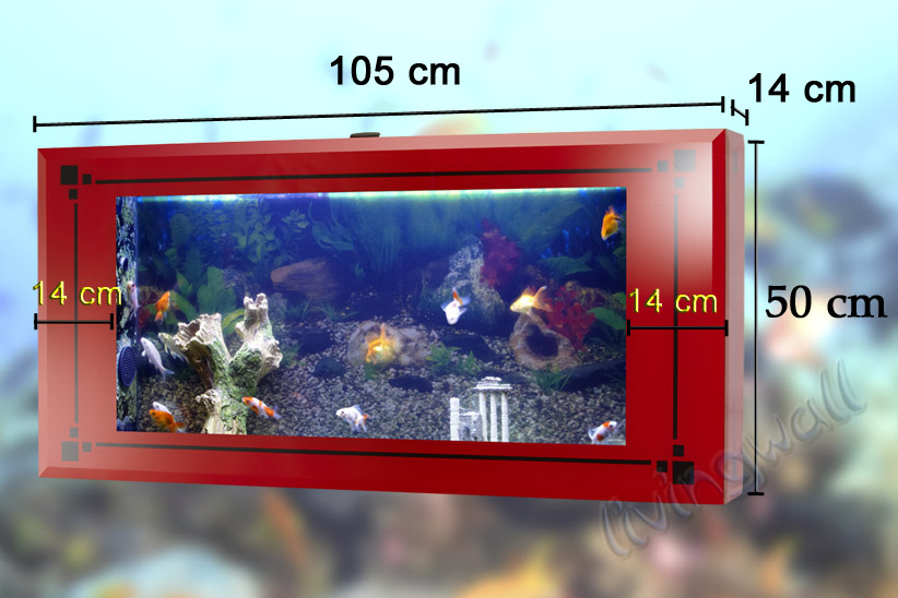 dimesions wall aquarium livingwall